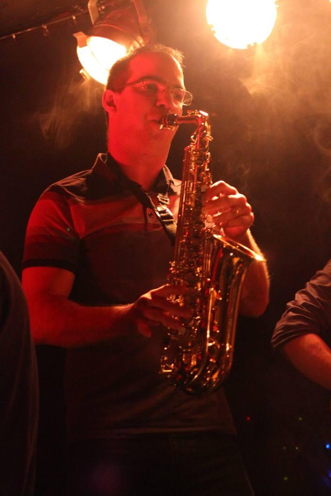 Guillaume au saxophone